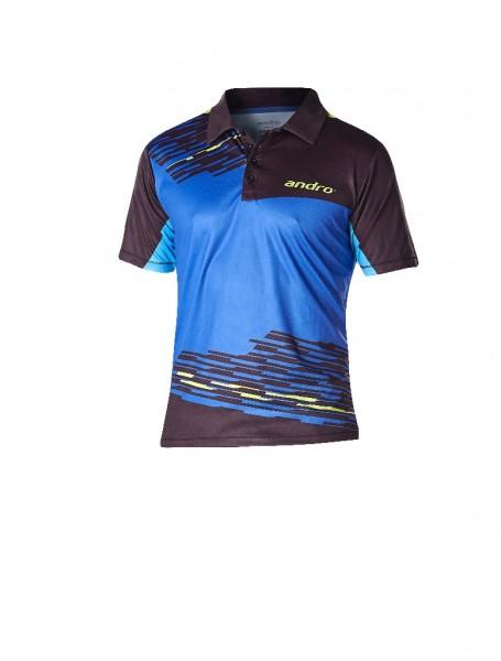 andro® Poloshirt Luke - blau/schwarz