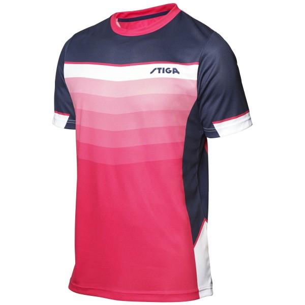 Stiga Shirt RIVER - pink-navy-weiß