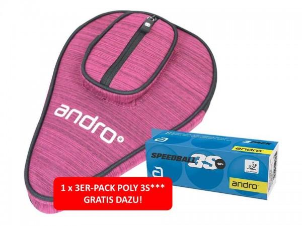 andro Hülle Basic SP melange/rot inkl. 3er-Pack Poly 3S***