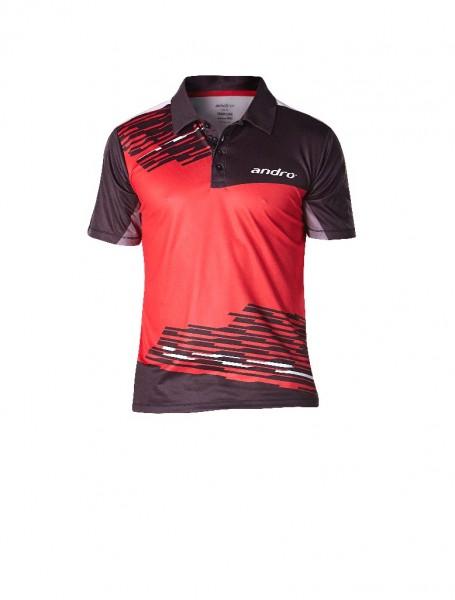 andro® Poloshirt Luke - rot/schwarz