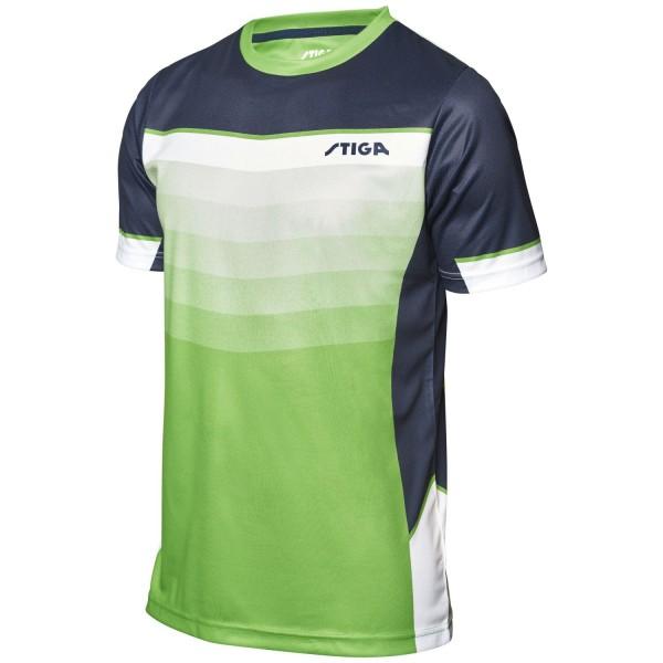 Stiga Shirt RIVER - lindgrün-navy-weiß
