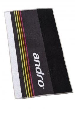 andro® Handtuch Rainbow 50x100 cm - grau/neonfarben
