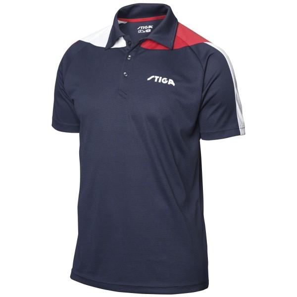 Stiga Shirt PACIFIC - navy-rot-weiß