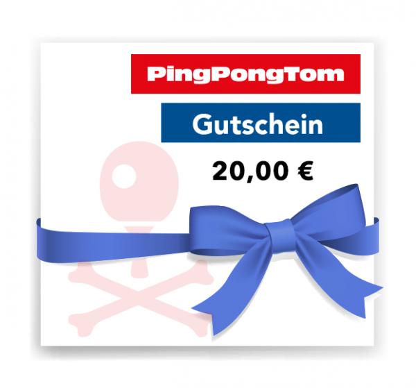 Pingpongtom Gutschein - 20,00 €