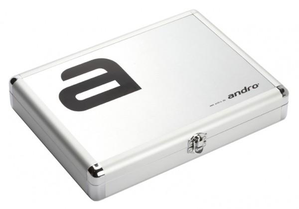 andro® Alucase Alpha - silber inkl. 3er-Pack Poly 3S