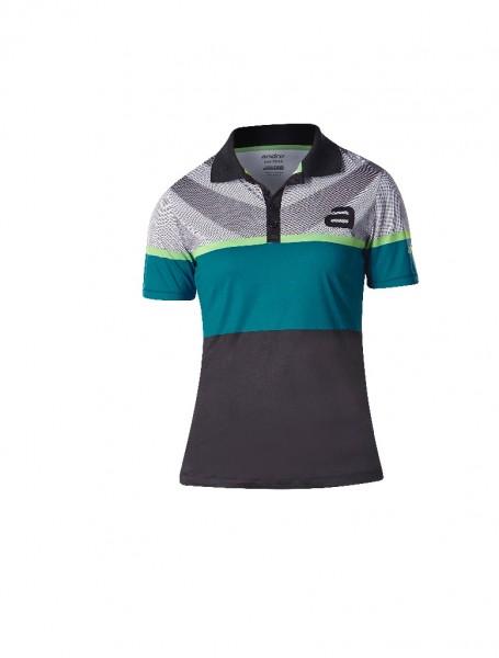 andro® Poloshirt Blake Women - schwarz/grün