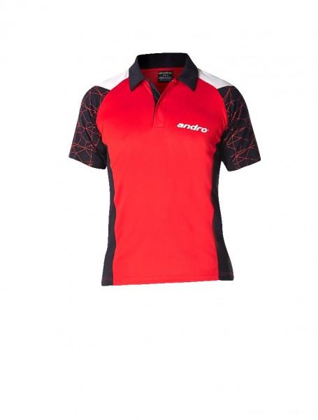 andro® Poloshirt Leon - rot/schwarz