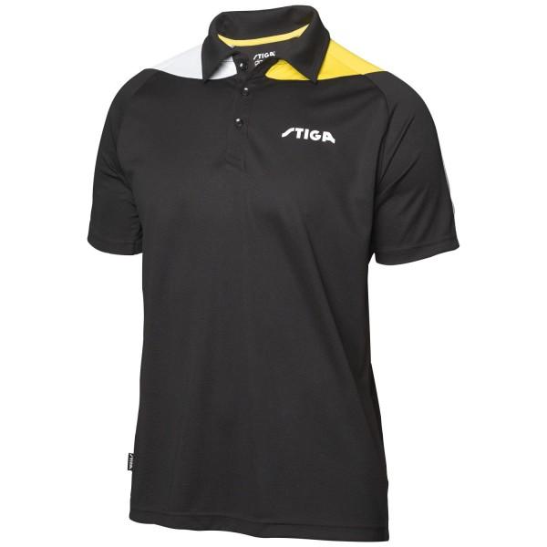 Stiga Shirt PACIFIC - schwarz-gelb-weiß